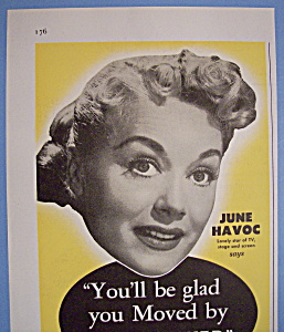 Vintage Ad: 1955 Mayflower Warehouses With June Havoc