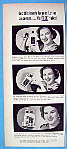 Vintage Ad: 1952 Jergens Lotion With Kate Smith
