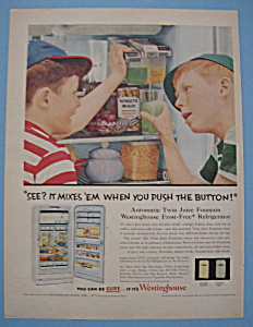 Vintage Ad: 1955 Westinghouse Frost Free Refrigerator (Image1)