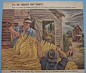 Vintage Ad: 1942 Lucky Strike Cigarette By Aaron Bohrod (Image1)