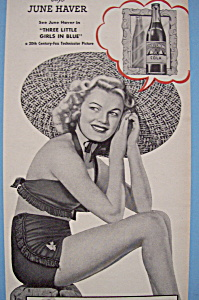 Vintage Ad: 1946 Royal Crown Cola W/ June Haver