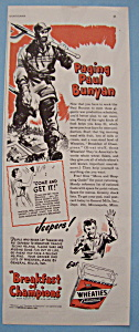 Vintage Ad: 1943 Wheaties Cereal (Image1)