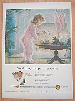 1948 Coffee w/Little Girl Putting Out Coffee For Santa (Image1)