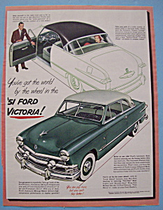 Vintage Ad: 1951 Ford Victoria