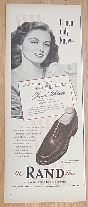 Vintage Ad: 1946 Rand Shoes With Cheryl Walker