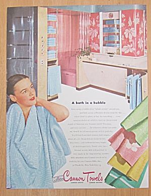 1946 Cannon Towels with Woman Using Towel (Image1)