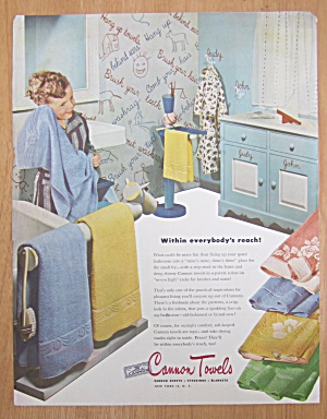 1946 Cannon Towels with Little Boy Drying with Towel (Image1)