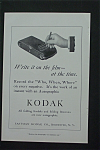 1916 Eastman Kodak Company with Hand Holding a Pencil (Image1)