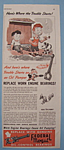 Vintage Ad: 1943 Federal Mogul Oil Control Bearings (Image1)