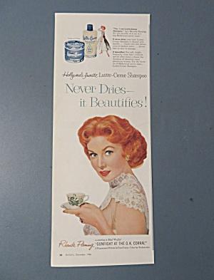 Vintage Ad: 1956 Lustre-Creme Shampoo w/Rhonda Fleming (Image1)
