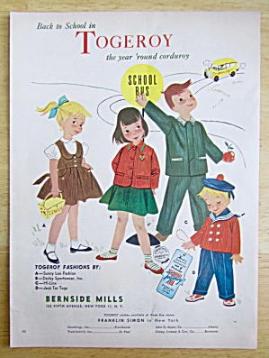 1951 Togeroy w/ Children Dressed For Different Seasons (Image1)