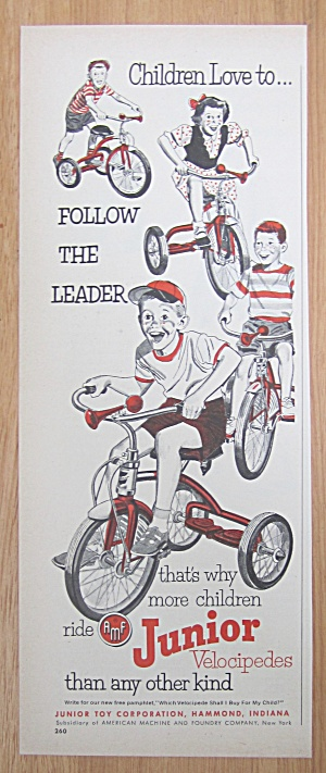 1952 AMF Junior Velocipedes with 4 Children & Bicycles (Image1)