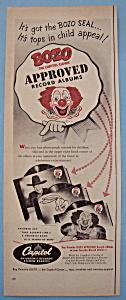 Vintage Ad: 1950 Bozo Record Albums (Image1)