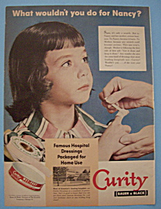 Vintage Ad: 1950 Curity Dressings (Image1)