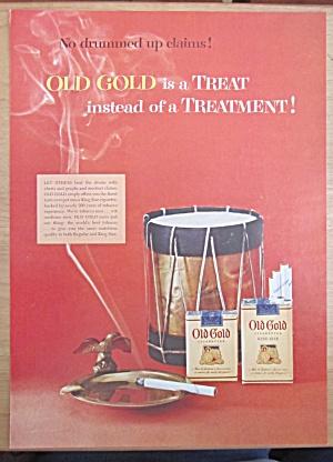 1954 Old Gold Cigarettes w/Drum & Cigarette in Ashtray (Image1)