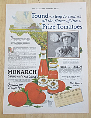 1926 Monarch Catsup & Chili Sauce with Little Girl  (Image1)