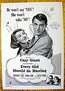 Vintage Ad: 1948 Every Girl Should Be Married /c. Grant