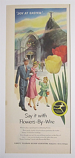 1953 Flowers By Wire w/Family Leaving Church At Easter (Image1)