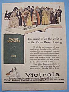 Vintage Ad: 1923 Victor Records (Image1)