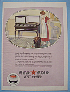 Vintage Ad: 1924 Red Star Oil Stove (Image1)