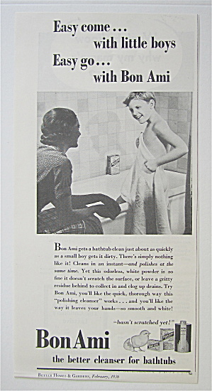 1936 Bon Ami with Mom Talking To Boy Getting Out Of Tub (Image1)