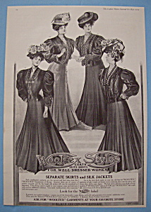 Vintage Ad: 1907 Wooltex Style Coats (Image1)