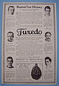 Vintage Ad: 1914 Tuxedo Tobacco For Pipe & Cigarette (Image1)