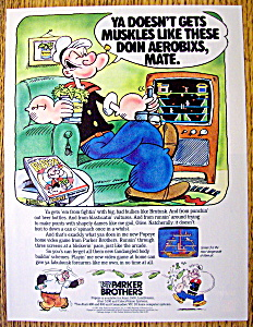 Vintage Ad: 1983 Parker Brothers Popeye Game
