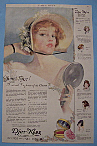 1919 Djer-Kiss Compacts w/ Lovely Woman Holding Mirror (Image1)