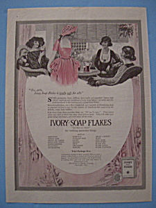 This Is A Fine Vintage Adver Of 1920 Ad For Ivory Soap Flakes Which In Very Good Condition But Slightly Yellowed And Measures Rox