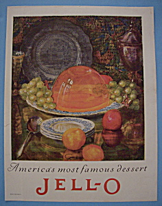 Vintage Ad: 1924 Jell - O By Giro