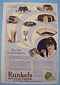 Vintage Ad: 1920 Runkel's All Purpose Cocoa (Image1)