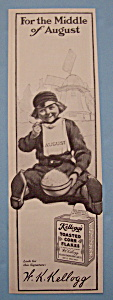 1914 Kellogg's Toasted Corn Flakes w/Boy Eating Cereal (Image1)