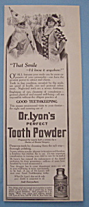 Vintage Ad: 1914 Dr. Lyon's Perfect Tooth Powder (Image1)