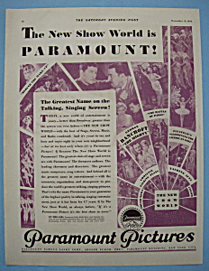 Vintage Ad: 1929 Paramount Pictures
