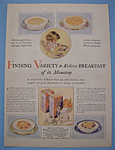 Vintage Ad: 1927 Puffed Rice & Puffed Wheat (Image1)