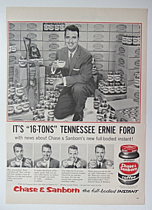 1956 Chase & Sanborn Coffee with Tennessee Ernie Ford  (Image1)