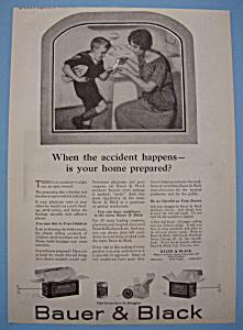Vintage Ad: 1923 Bauer & Black (Image1)