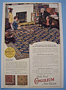 Vintage Ad: 1923 Gold Seal Congoleum Art Rugs (Image1)