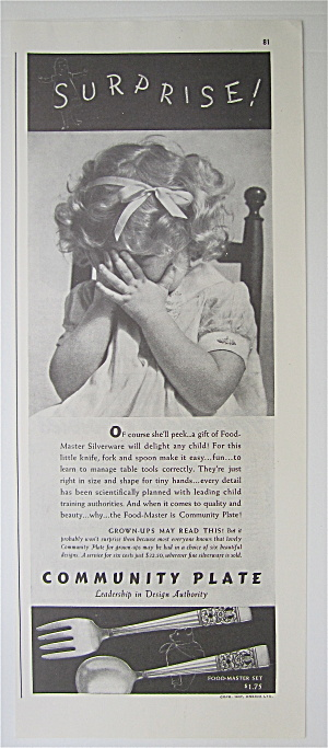 1937 Community Plate with Little Bashful Girl (Image1)