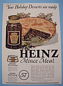 Vintage Ad: 1923 Heinz Mince Meat