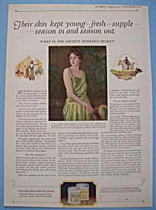 Vintage Ad: 1923 Pond's Cold Cream (Image1)