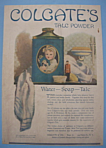 Vintage Ad: 1918 Colgate Talc Powder (Image1)