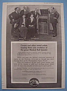 Vintage Ad: 1914 Victrola With Caruso, Setti & Hempel