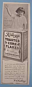 1914 Kellogg's Toasted Corn Flakes w/Child Standing (Image1)