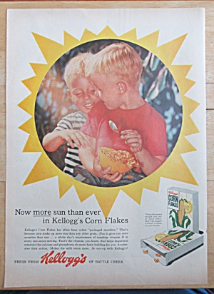 1957 Kellogg's Corn Flakes w/ Two Boys & Bowl of Cereal (Image1)