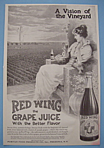 Vintage Ad: 1914 Red Wing Grape Juice (Image1)