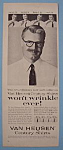 Vintage Ad: 1955 Van Heusen Shirts w/Bert Parks (Image1)