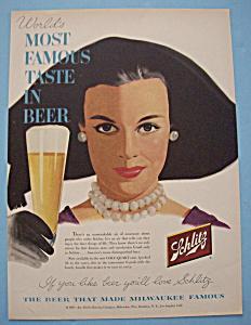 Vintage Ad: 1955 Schlitz Beer (Image1)