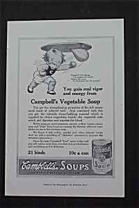 1916 Campbell Soup With Campbell Kid Punching Bag